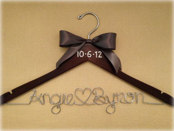 Signature Get Hung Up Bling Wedding Date Bridal Hanger. Brides Wedding dress hanger!
