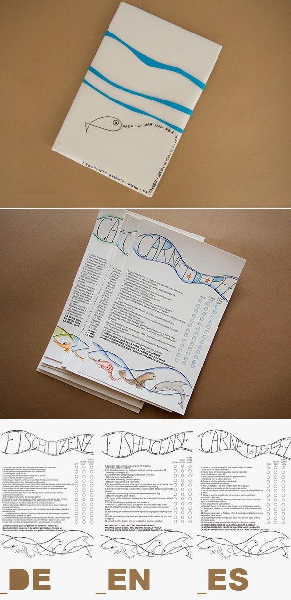El hada de papel: Carnet de Pez / Fishlicense / Fischlizenz
