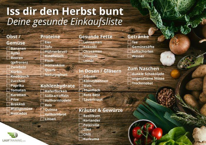 Deine gesunde Einkaufsliste für den Herbst