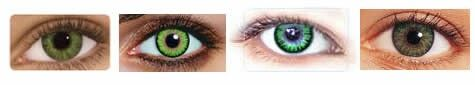 Color names in order: Most popular greens: Freshlook Colorblends Gemstone Green, Triple Color Green, Freshlook Colorblends Green   Colors in order: Most popular greens: Freshlook Colorblends Gemstone Green, Triple Color Green, Freshlook Colorblends Green (@ colormecontacts.com/green)