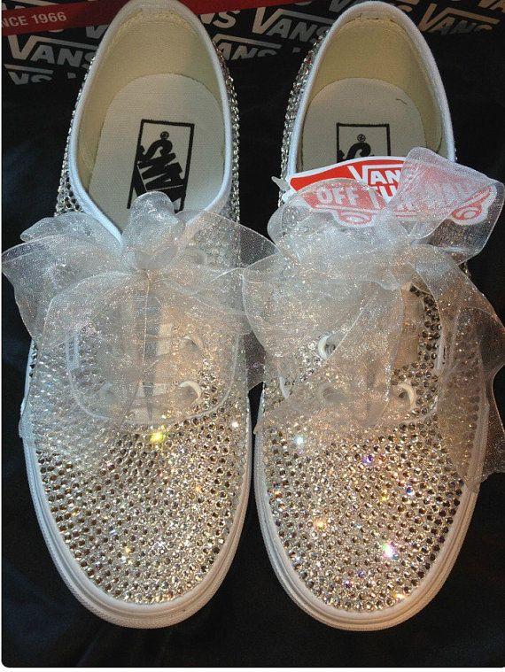bridal vans by uniqueitupshoes on etsy