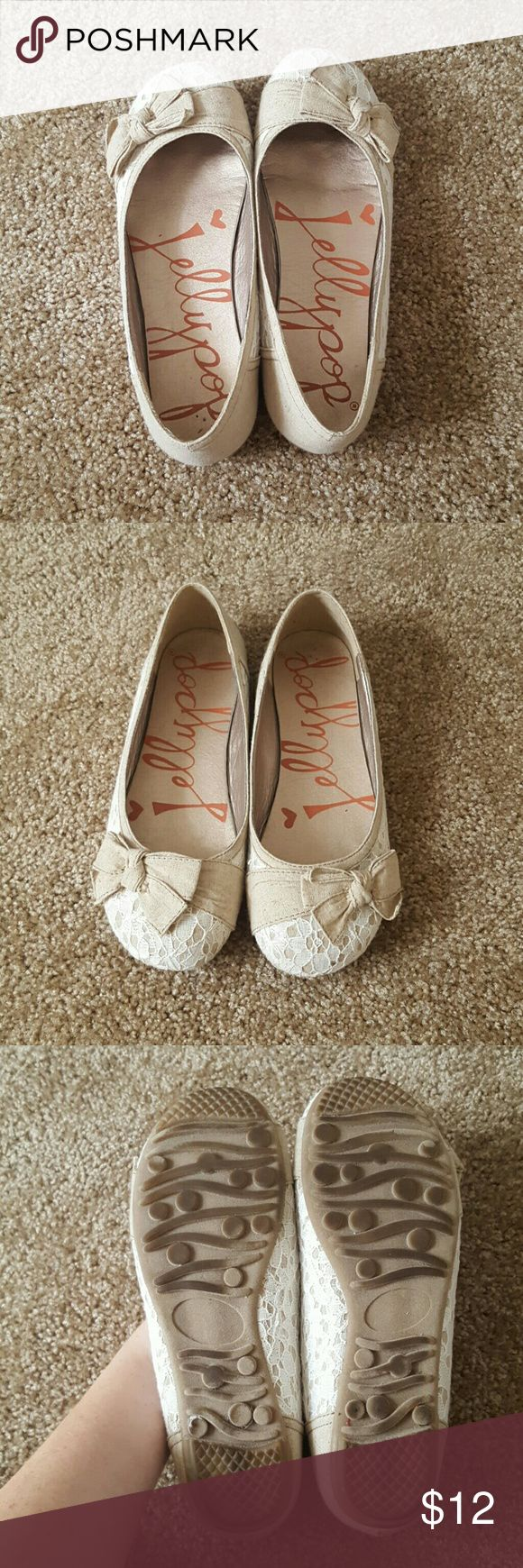 Tan Jellypop Flats New. Worn once. Good condition. Jellypop   Shoes Flats & Loafers