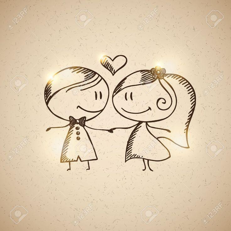 18406540 Hand Gezeichnet Hochzeitspaar Lizenzfreie Bilder Jpg 1300 215 1300 Hochzeitsideen