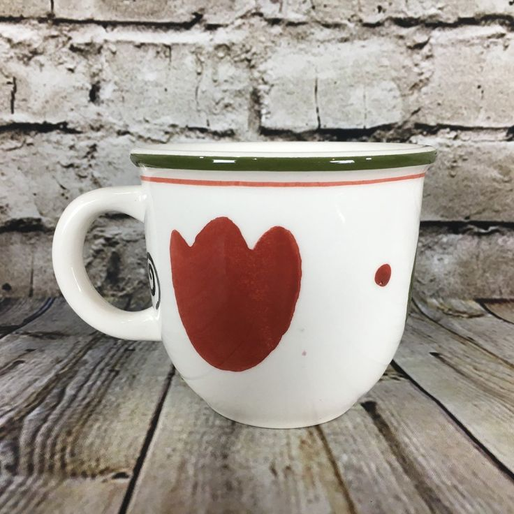 """Pier 1 Imports Alessia Hand Painted Earthenware 3.75"""" Tall Coffee Mug"""