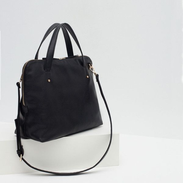 Zara Soft City Bag ($30) ❤ liked on Polyvore featuring bags, handbags, zara bag, city bag, zara handbags and zara purse