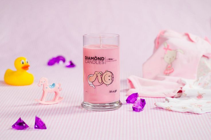 It's a Girl Ring Candle - Diamond Candles - Home Fragrance Made Fun and Hassle Free