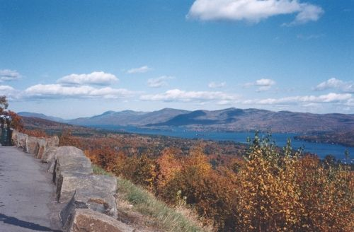 Prospect Mt. overlooking Lake George, NY in the Fall.