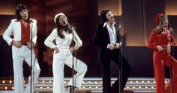 The UK's Brotherhood Of Man had a memorable cheesy dance routine to their song, Save Your Kisses For Me, which won the top spot in Holland in 1976.