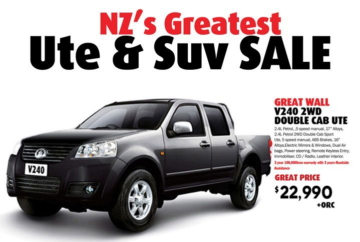 NZ's Greatest Ute & Suv Sale
