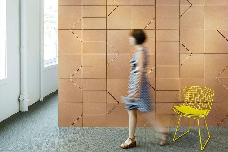 Lisboa Beller collection cork tiles, acoustic | Spinneybeck