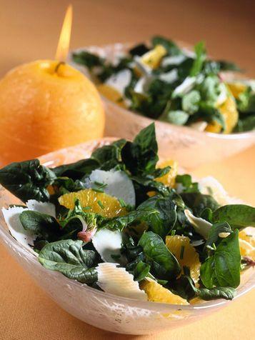 Insalata di spinaci e pecorino