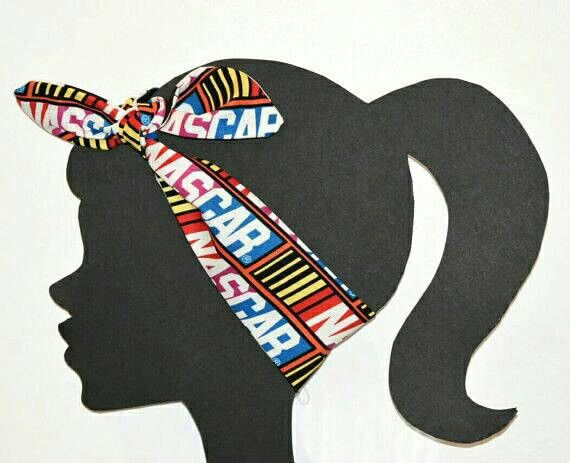 "Nascar reversible tie headband, bandana like tie hair accessory. Measures: 34"" Long x 3"" Wide Wash: Hand wash lay flat to dry. Adds a great touch of spirit to any Nascar fan wardrobe. Click HERE to Fr"