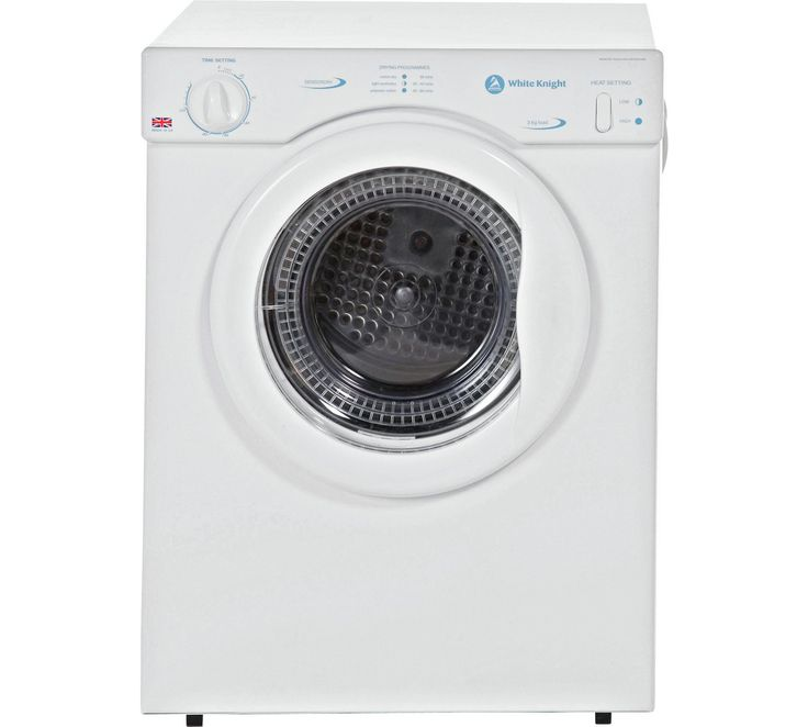 Buy White Knight C372WV 3KG Vented Tumble Dryer - White at Argos.co.uk, visit Argos.co.uk to shop online for Tumble dryers, Large kitchen appliances, Home and garden