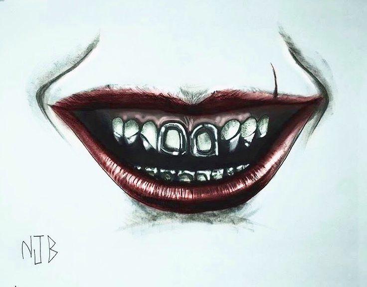 "Tattoo design for a Joker tattoo!!!Based on @jaredleto !!! ------------------------------------------------------------------------------------------------------#joker #joking #tattoo #tattoos…"""