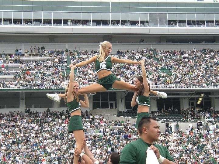 Advise Michigan state spartans cheerleaders seems