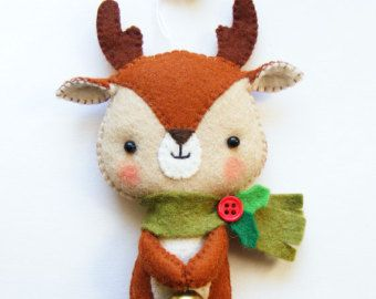 PDF pattern Felt bunny ornament. DIY hanging softie by iManuFatti