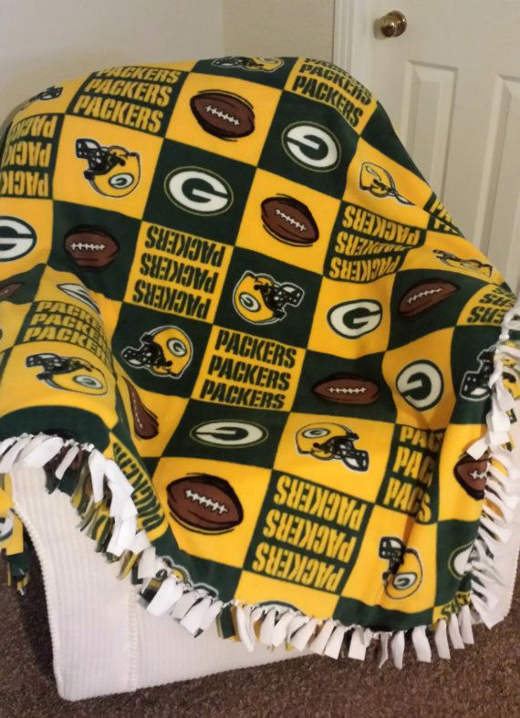 NFL Green Bay Packers Custom Blanket  No Sew by RolanisWonderland #HandmadeChristmas #Etsy #Etsians