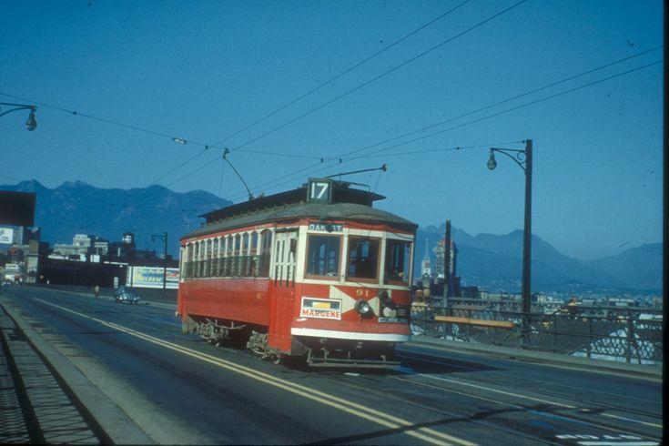 Vancouver BC vintage streetcar
