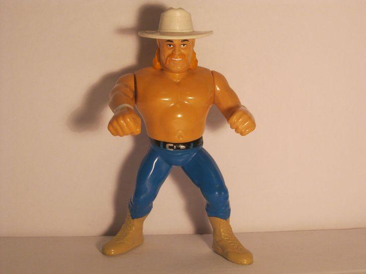 Rare WWF Hasbro 1990 Billy Gunn Smoking Gunns Wrestling Action Figure Green Card