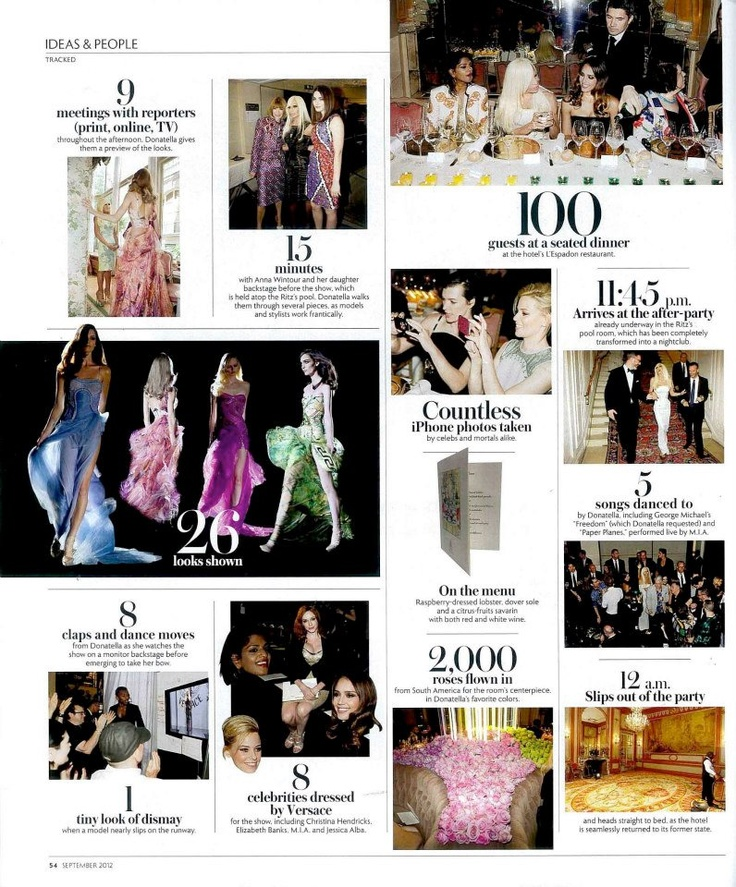 Have a look at Donatella Versace Paris Diary. Taken from the Wall Street Journal Magazine!  Link: http://www.facebook.com/versace    http://www.milanoresidences.com.ph/