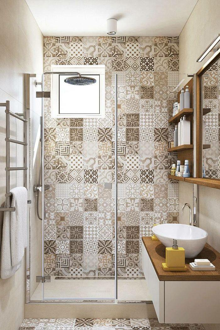 1001 ideas de decoracion para ba os peque os con ducha - Azulejos para ducha ...