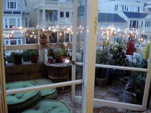 balcony lighting. christmas lights on balcony google search lighting n