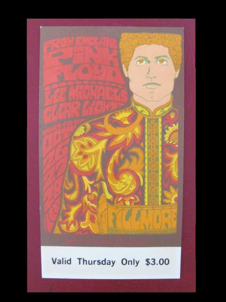 Pink Floyd 1967 First US Tour Original Full Unused Concert Ticket by TangibleMusic on Etsy https://www.etsy.com/listing/559407418/pink-floyd-1967-first-us-tour-original