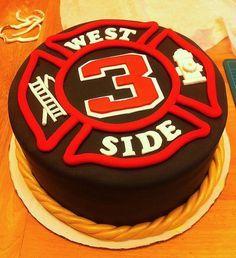 Firefighter Grooms Cake on Pinterest | Firefighter Wedding Cakes ...