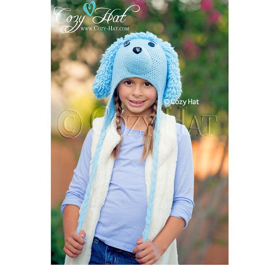 Bluedle the Poodle Hat by CozyHat on Etsy #poodle