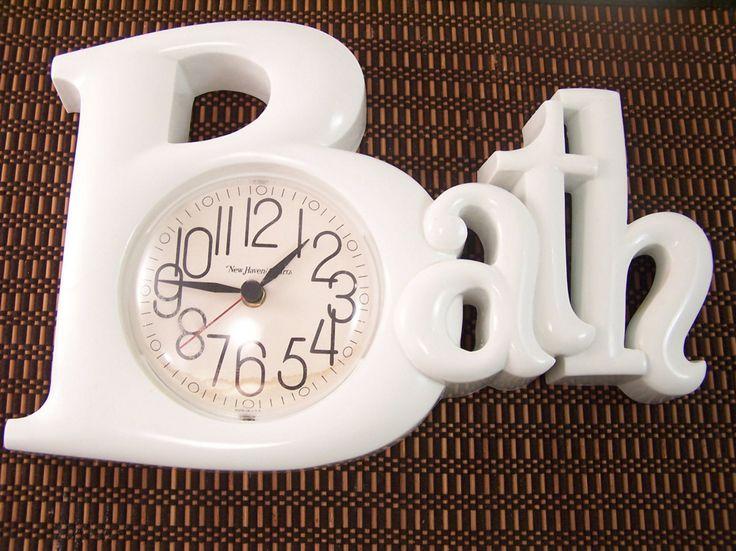 cool bathroom wall clocks