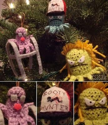Squidbillies amigurumi ornaments ftw