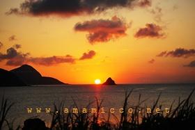 My home town;) Amami Oshima  Sunset in Akakina.