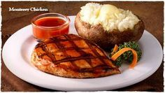 CHICKEN MONTEREY Ponderosa Restaurant Copycat Recipe Serves 6 6 chicken breasts Marinade: 8 drops Worcestershire sauce 1 table...