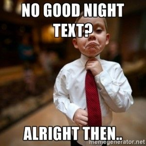 Sweet Good Night Meme for her