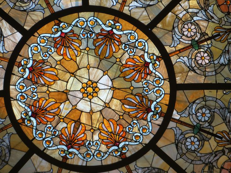 healy millet stained glass dome chicago cultural