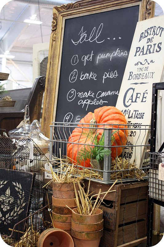 <3: Fall Decor, Autumn Fall, Marketing Photo, Fall Autumn, Autumn Display, Fleas Marketing, Chalkboards Ideas, Chalkboards Frames, Fall Display