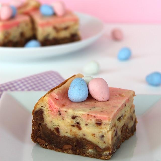 Cadbury Mini Egg Cheesecake Bars | My favorite Easter candy + cheesecake = hello amazingness!