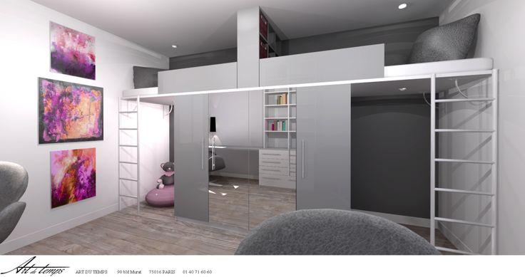 25 best ideas about mezzanine sur mesure on pinterest cuisine sur mesure armoires de cuisine. Black Bedroom Furniture Sets. Home Design Ideas