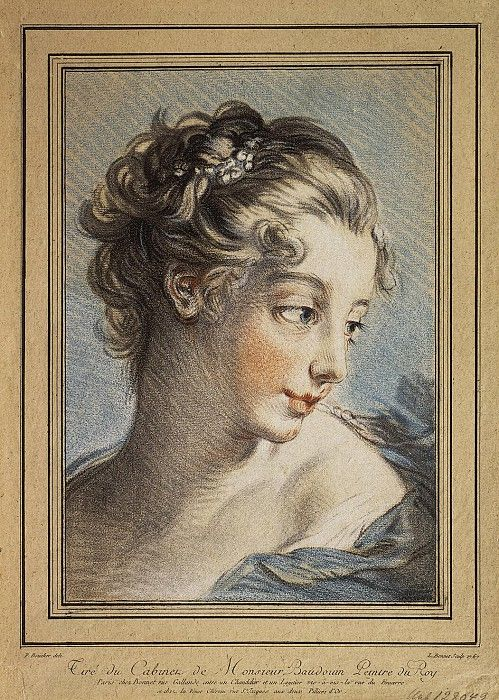 Бонне, Луис Марин - Женская головка. часть 2 Эрмитаж. Описание картины, скачать репродукцию.