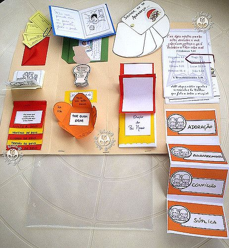 Lapbook com os minik-books abertos | Here you can see all th… | Flickr