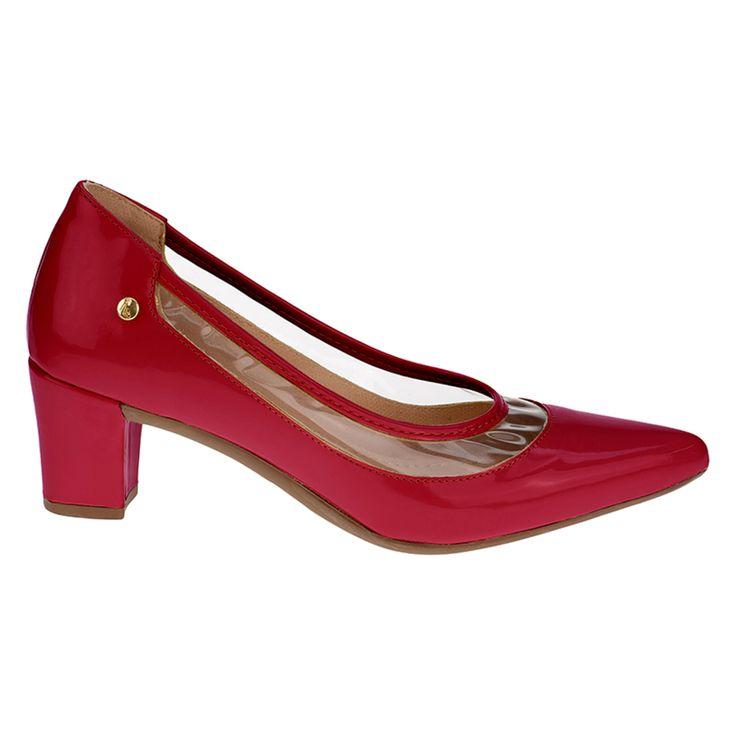 Scarpin Lu moda cristal transparente sapato vermelho   – Products