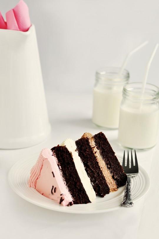 Neapolitan Mousse Cake Recipe