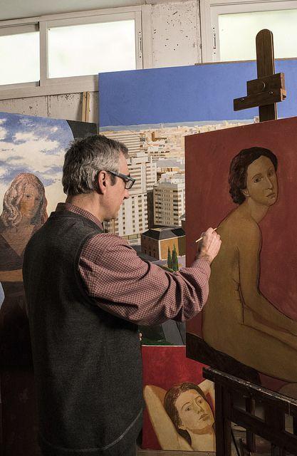 retrato pintando