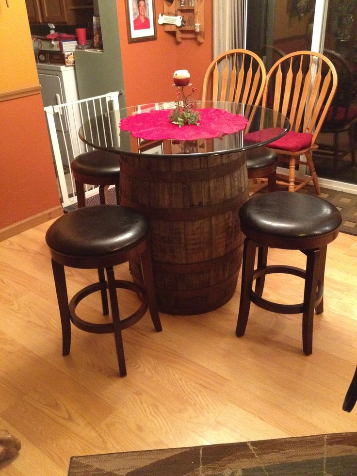 how to build wine barrel furniture