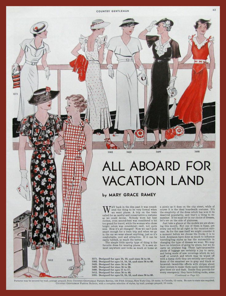 Country Gentleman patterns in 1935