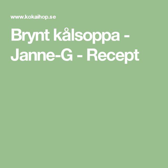Brynt kålsoppa - Janne-G - Recept