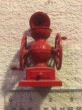 винтажный кофемолку точилка для карандашей красный ЛИТОЙ МЕТАЛЛ движущихся частей точильщик