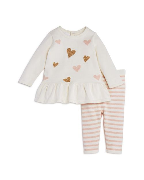 f317fc215f0bc Bloomie's - Girls' Heart Sweater Tunic & Striped Knit Leggings Set, Baby -  100% Exclusive