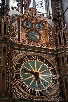 Astronomical clock Durham Cathedral, England