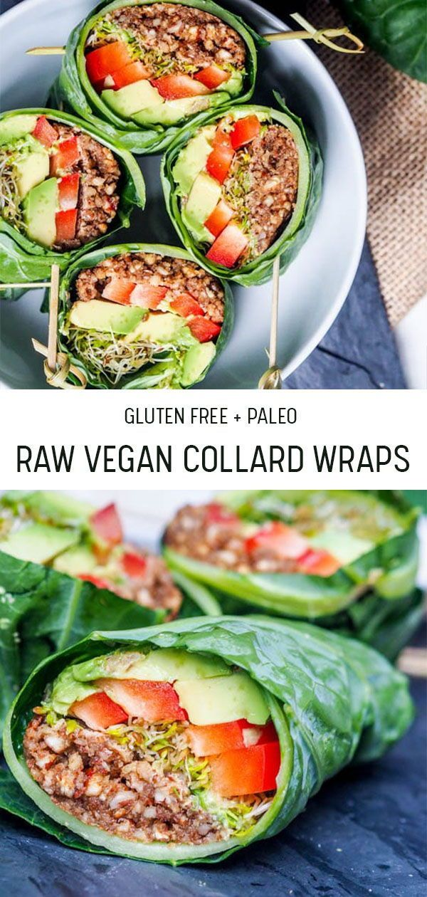 Raw Vegan Recipes Collard Wraps